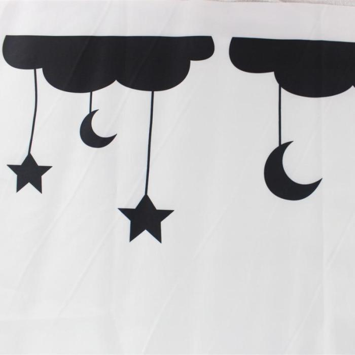 Newborns Baby Milestone Blanket Cloud Star Moon Photography Photo Props Background Cloth Infant Monthly Growth anniversary