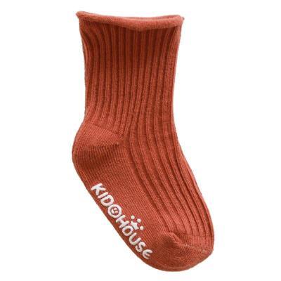 Fashion Newborn Baby Solid Print Sole Soft Shoes Sock Boys Girls Infant Toddler Anti-slip Socks