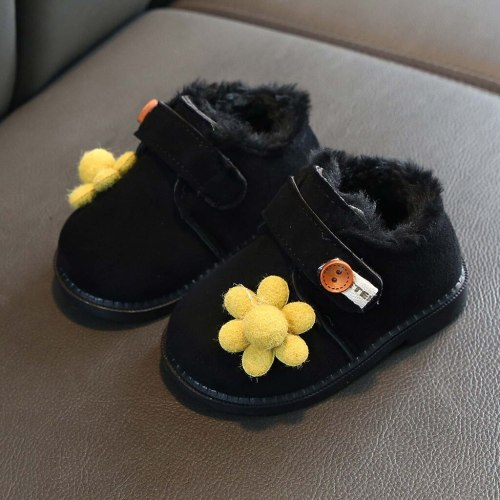 Children Kid Baby Girls Boots Ankle Sport Short Bootie Casual Flower Warm Shoes Unisex Animal Prints Hook Loop Baby Shoes