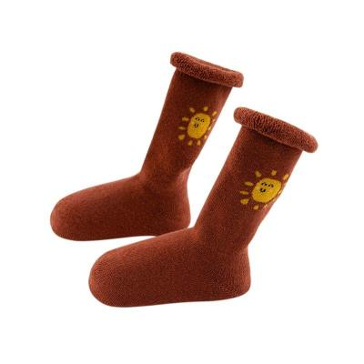 1 Pairs Toddler Boys And Girls Socks Thick Warm Thermal Socks Cotton Socks Anti-Slip Baby Floor Socks