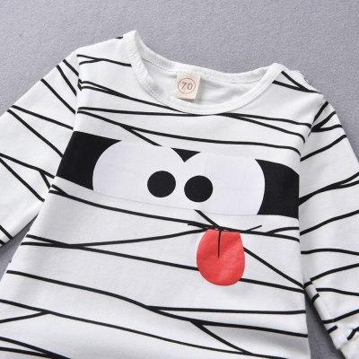 Hot baby boy clothes Newborn Infant Baby Girls Boys Cartoon Stripe Romper+Hat Outfits Costume Set