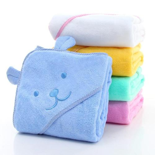 Baby Towel Newborn Bath Comfortable Soft Baby Hooded Bathrobe Cute Animal Beach Cotton Towel