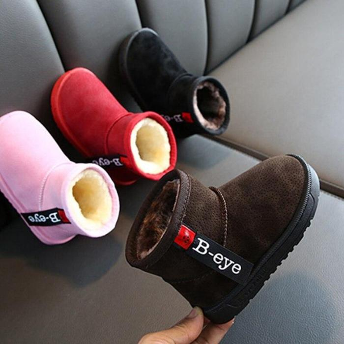 Baby Girl Boy Snow Winter Half Boots Warm  Newborn Baby Soft Bottom Lace Up Classic Tie Up Boot