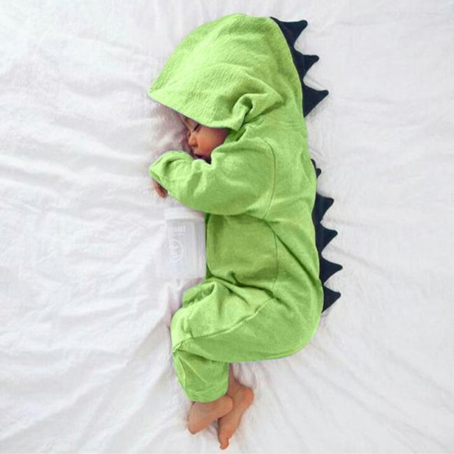 Hot baby clothes Newborn Infant Baby Boy Girl Dinosaur Hooded Romper Jumpsuit Outfits Clothes