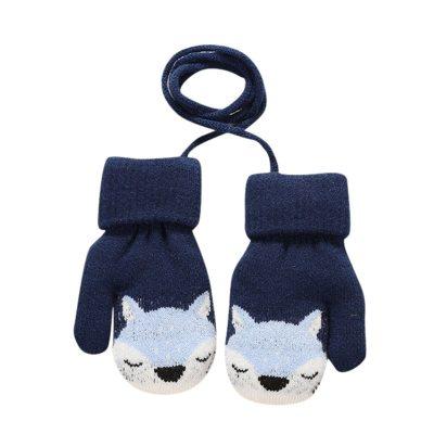 Fashion kids gloves Children Kid Mittens Winter warm Knitted Rope Gloves Printed Full Finger Gloves