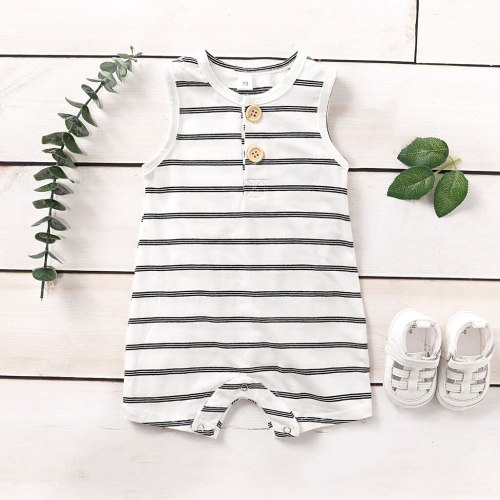 Newest baby clothes Infant Summer 2020 Baby Sleeveless Striped Print Jumpsuit