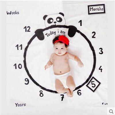 Flower Animal Monthly Milestone Baby Blankets Swaddle Wrap Cute Soft Blanket Newborn Bathing Towels DIY Kids Photography Props