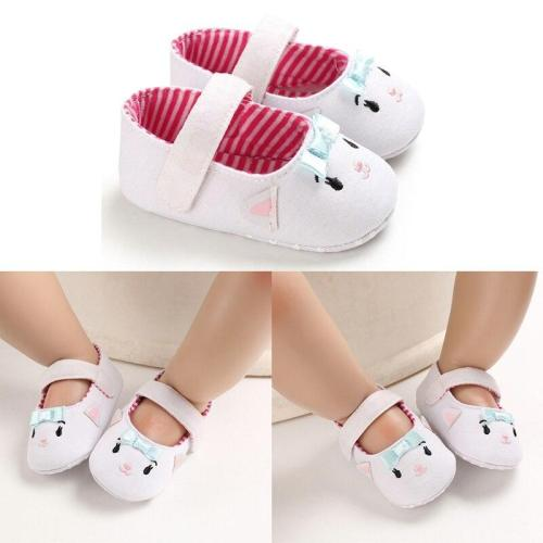 Newborn girls Cute Cartoon Cat soft sole comfortable toddler shoes Infant Cotton first walker