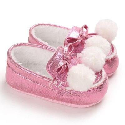 Winter Kids Baby Girl Shoes First Walker Super Warm Infant Toddler Girls Cribe Shoes Bling 0-18 Months