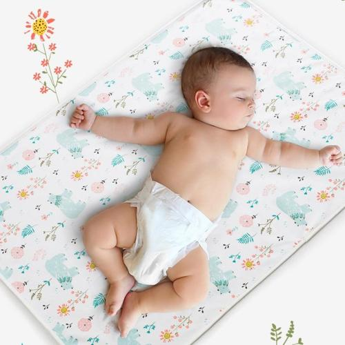 Reusable Baby Changing Mat Cover Baby Diaper Mattress Diaper for Newborn Cotton Waterproof Changing Pads Floor Play Mat