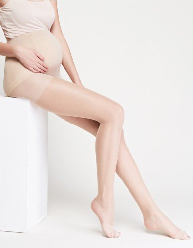 Thin section Silk stockings Pregnancy Pantyhose Solid Piece stockings Siamese Tights For Pregnant Women