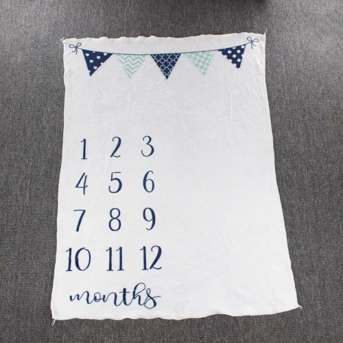 Baby Milestone Blanket Bebe Growth Monthly Backdrop Cloth Blankets infant Photography Props Shoot Flannel Swaddle Wraps Towels