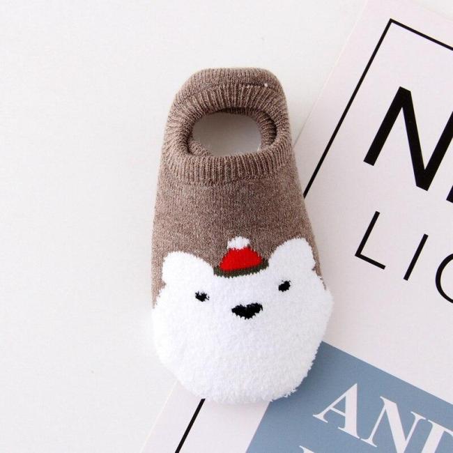 Winter socks cartoon Christmas baby socks newborn boys girls home socks cotton thickening toddler New Year gift 0-5Y