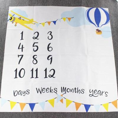 Newborn Baby Girls Boys Milestone Blanket Photography Photo Props Backdrop Cloth Mobile phone Pattern Toddler Memorial Day