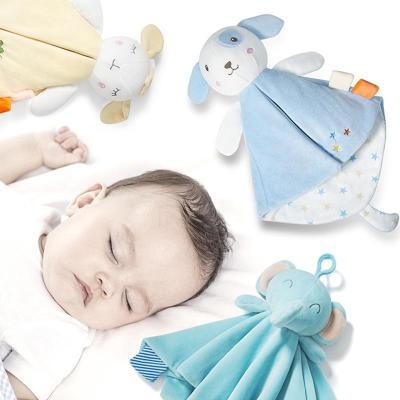 Baby Towels Newborn Rattles Animal Bear/Rabbit Plush Dolls Soft Security Blanket Bed bells Baby Comfort Saliva Towel Baby Toys