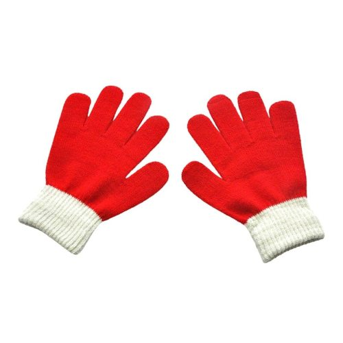 Children Kids Magic Winter Gloves Full Finger Warm Knitted Gloves