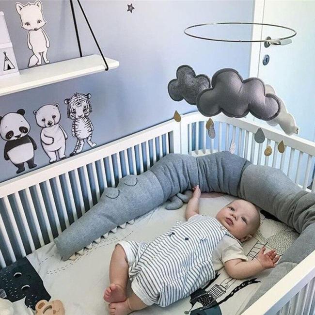 185cm Baby Pillow Children Crocodile Pillow Cushion Toddler Infant Bedding Crib Fence Bumper Kids Room Decoration Toys