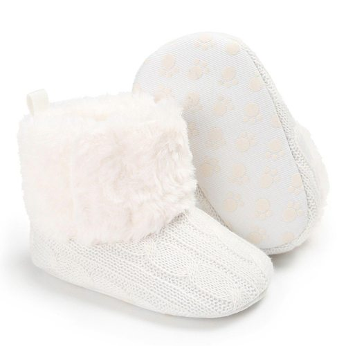 Fashion baby shoes Kid Baby Girls Cute Toddler First Walk Winter Casual Warm Shoes