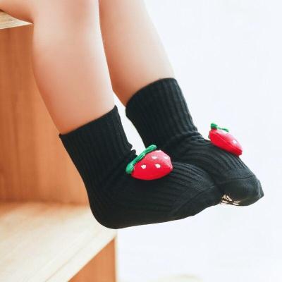 Newborn Baby Cartoon Fruit Design Sole Soft Shoes Sock Boys Girls Infant Toddler Anti-slip Socks