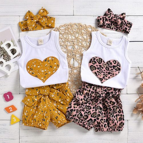 2020 Summer Kids Clothes Fashion Infant Newborn Baby Girls Casual Floral Vest Tops Shorts Pants Casual Outfits Set