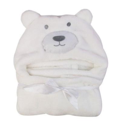 New Cute Bear Shaped Baby Hooded Bathrobe Soft  Cartoon Pattern Towel Newborn Towel Giraffe Towel Blanket Baby Bath Towel 100cm