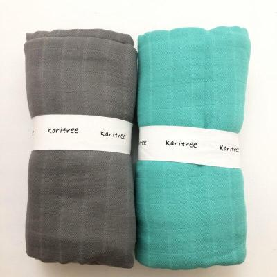MM PCS/lot 70% bamboo+ 30% cotton baby Swaddle Wraps Cotton Baby  swaddle blankets Newborn big diaper  bamboo  quilt
