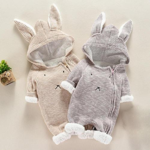 Cute Baby Long Sleeve Romper Newborn Baby Boy Girl Cartoon Romper Hooded 3D Ear Rompers