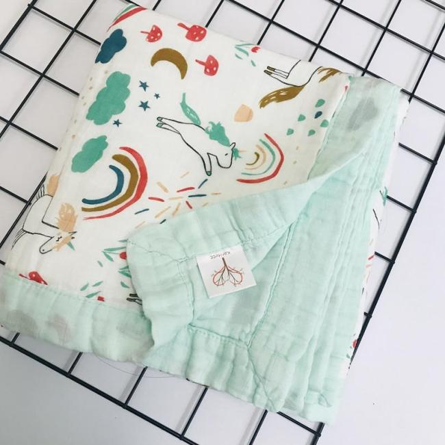 six layers 70% bamboo+ 30% cotton baby Swaddle  baby blanket Wraps Cotton Baby muslin Blankets Newborn  quilt