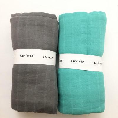 2 PCS/lot 70% bamboo+ 30% cotton baby Swaddle Wraps Cotton Baby  swaddle blankets Newborn big diaper  bamboo quilt