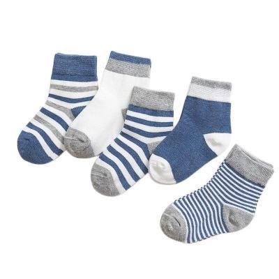 5 Pairs/Sets New Boys Girls Cute Cartoon Stripe Pattern Cotton Socks Childrens Kids Novelty Design