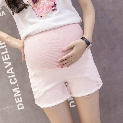2020 New Maternity Shorts Maternity High Waist Support Belt Comfort Denim Shorts Pregnant Short Jeans Pregnancy Pants