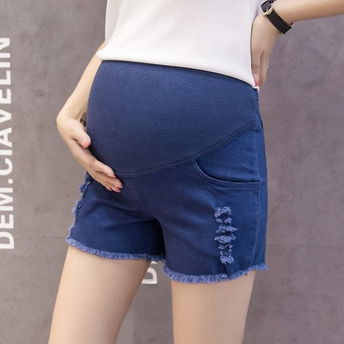 2020 New Maternity Shorts Maternity High Waist Support Belt Comfort Denim Shorts Pregnant Short Jeans Pregnancy Pants