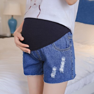 Pregnant Women Clothing Pregnancy Cotton Clothes Short Belly Skinny Jeans High Waist Pants