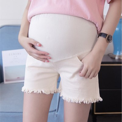 2020 Solid Denim Maternity Jeans for Pregnant Women Pregnant Pants Pregnancy Clothes Short Pants Maternity Belly Care Trousers