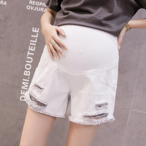 Spring Summer Maternity Short Pants Pregnancy Shorts Pregnant Jeans Maternity Shorts Autumn Belly Denim Pants