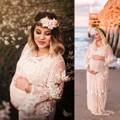 2020 Women Dress Maternity Photography Props Lace Pregnancy Clothes Maternity Dresses