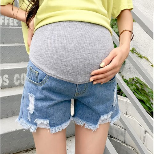 Hot Sale 2020 Summer New Arrival Maternity Fashion Short Jeans Denim Hot  Pants For Pregnant Women Pregnancy Summer Clothes