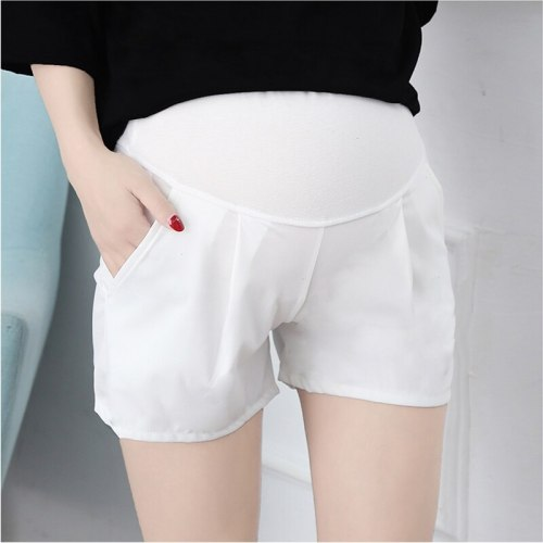 Maternity Summer Casual Shorts Elastic Waist Pants Pregnancy High Waist Clothes Shorts