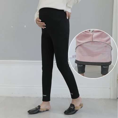 Belly Warm Maternity Velvet Legging Thick Winter Knitted Clothes for Pregnant Women Pregnancy Pants