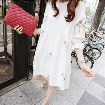 2020 Loose Summer Maternity Dresses Cotton Blouses Shirts Pregnant Dress Pregnancy Dress Maternity Clothes
