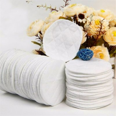 10Pcs Reusable Nursing Breast Pads Washable Soft Absorbent Feeding Breastfeeding Pad for Mother Baby Infant Supply