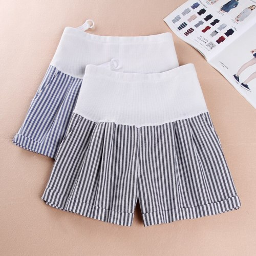 Summer Casual Thin Maternity Shorts High Elastic Waist Stomach Lift Pregnant Cotton Shorts