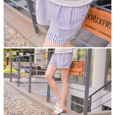 Summer Casual Thin Maternity Shorts High Elastic Waist Stomach Lift Pregnant Cotton Shorts