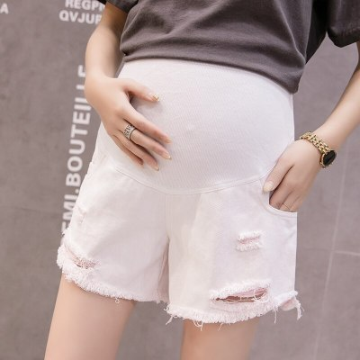 Maternity Short Pregnant Jeans Maternity Shorts Autumn Belly Denim Pants