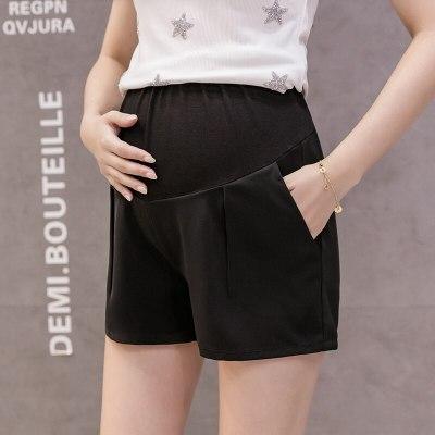 Casual Maternity Short Pants Pregnancy Shorts Pregnant Jeans Maternity Shorts Autumn Belly Denim Pants Loose Short Pants