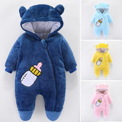Winter Baby Overalls For Baby Girls Costume 2020 Autumn Newborn Clothes Thick Wool Rompers For Baby Boys Jumpsuit Infant Clothes