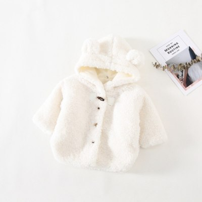 2020 Warm Winter Girls Boy Kids Coat Jackets Children Baby Infants Cashmere Ear Hooded Thicken Outwear Coat