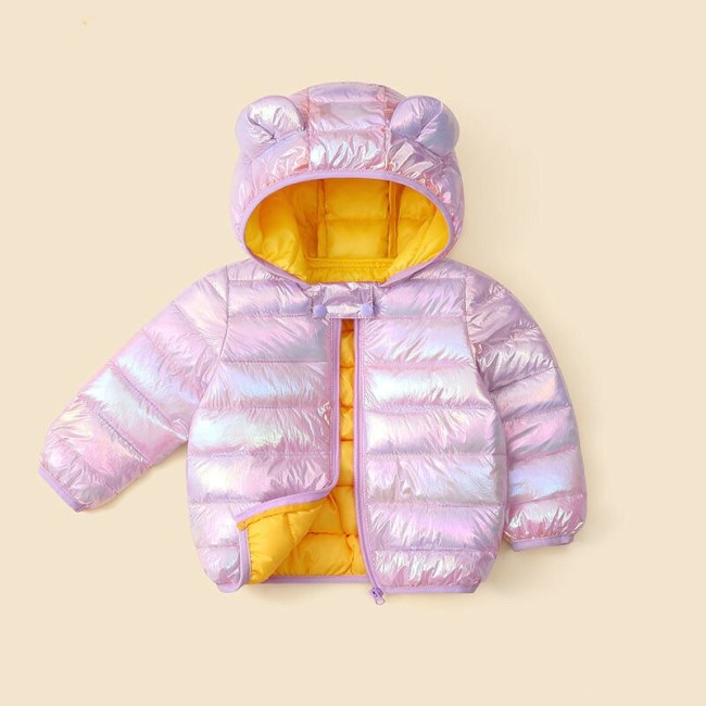Babies Down Jacket Coat Baby Girls Boys Parka Kids Jacket Hood Winter Children Jacket Spring Fall Toddler Outerwear