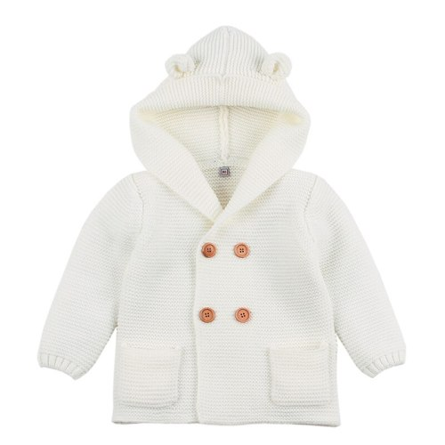 Winter Sweaters For Baby Girls Cardigans Autumn Hooded Newborn Boys Knitted Cartoon Bear  Jacket