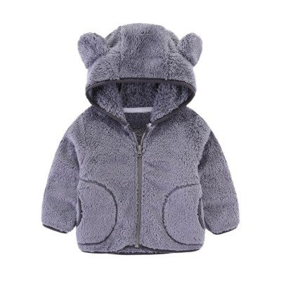 Winter Jackets Girls Baby Warm Girls Boys Flannel Winter Coat Kids Fleece Jackets Sweatshirt Hooded Coats